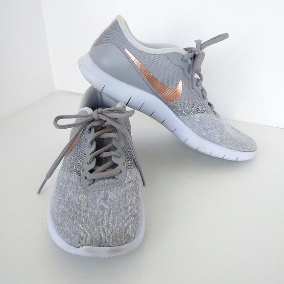 Grey Rose Gold Sneaker Sz